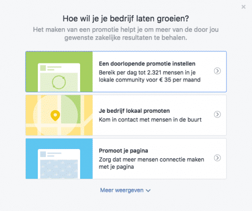 facebook adverteren doelstellling