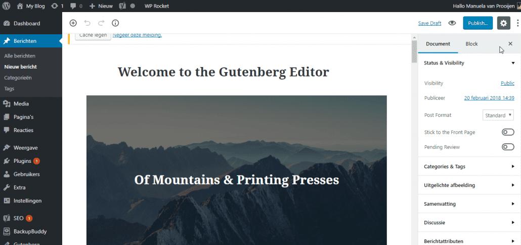 Demo Gutenberg